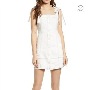 Endless rose white denim dress